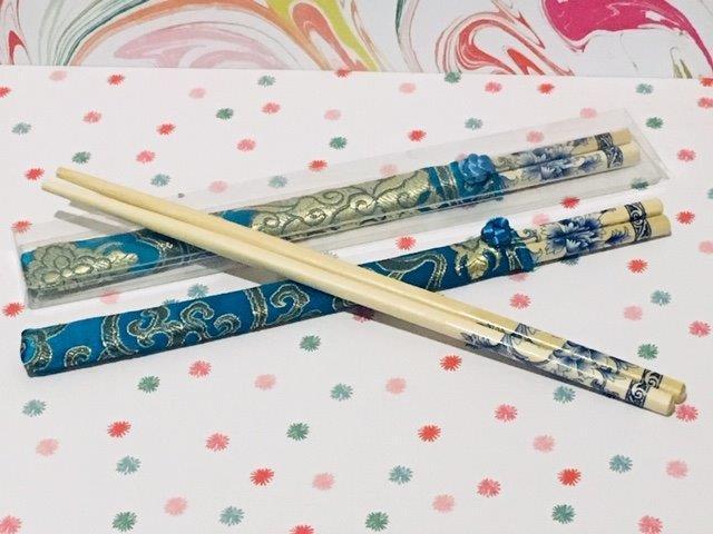 Bamboo Chopsticks - Blue