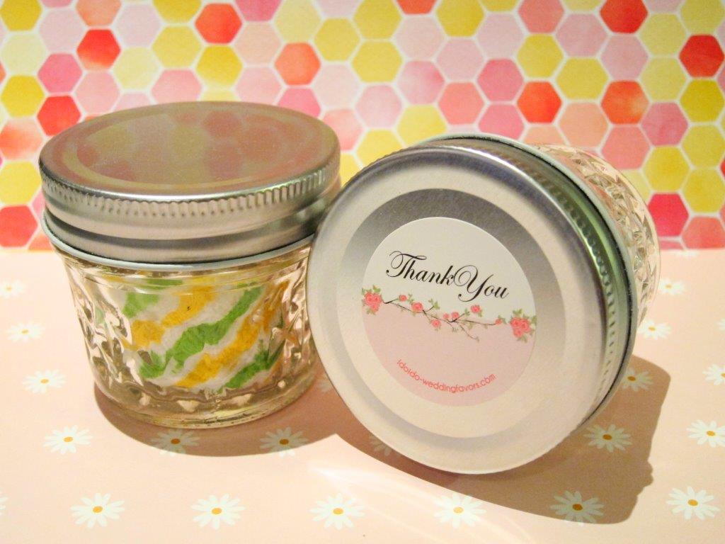 Diamond Cut Glass Jar with Towel