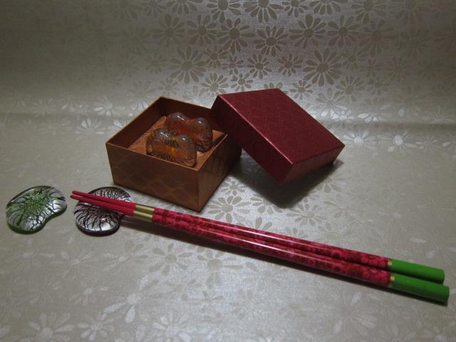 Handblown Heart Shape Glass Chopstick Rest