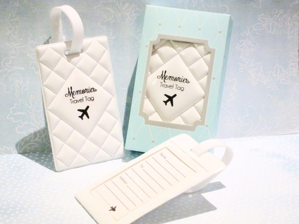 Memories Luggage Tag - White