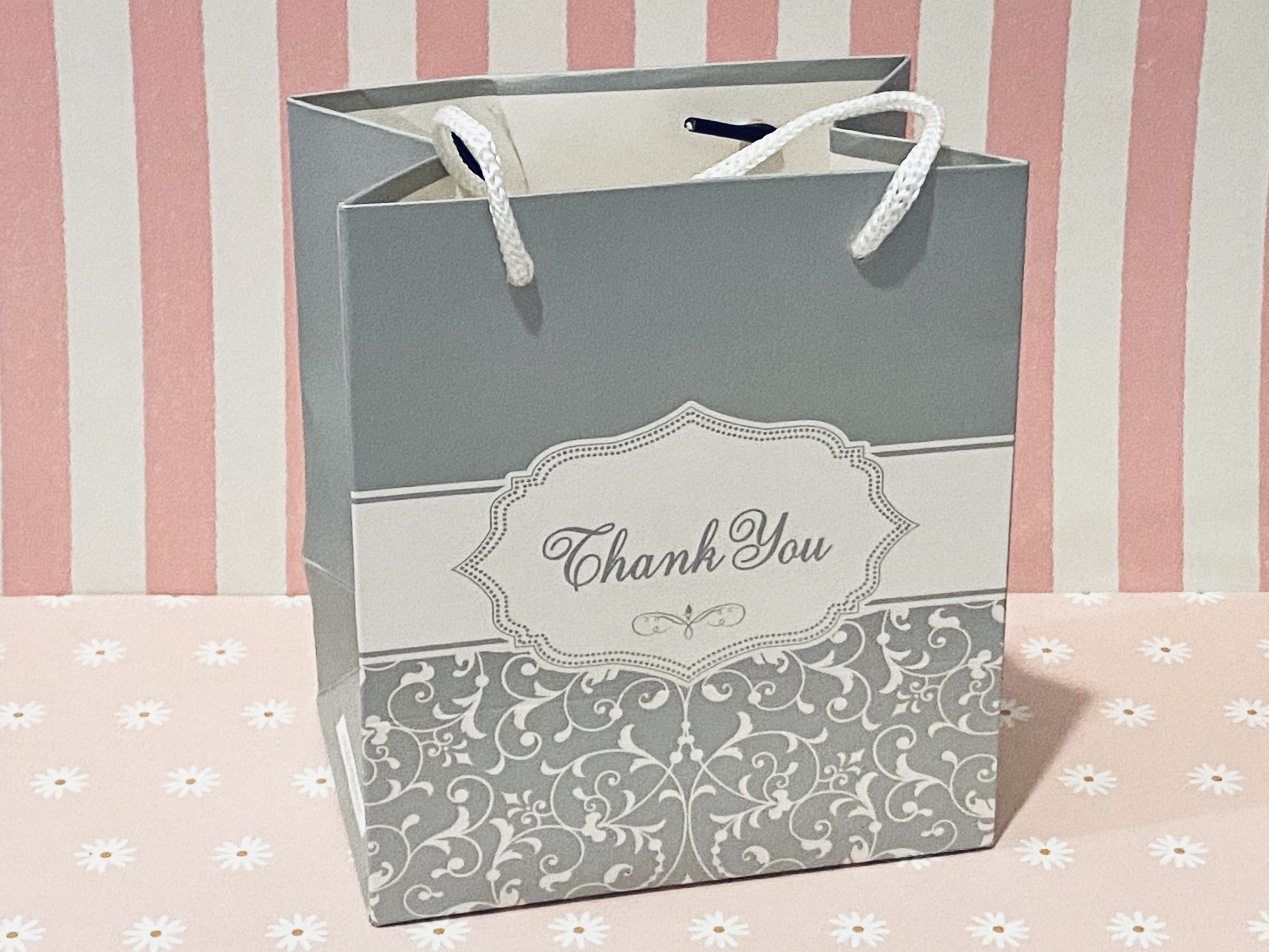 Pretty Silver Art Paper Carrier